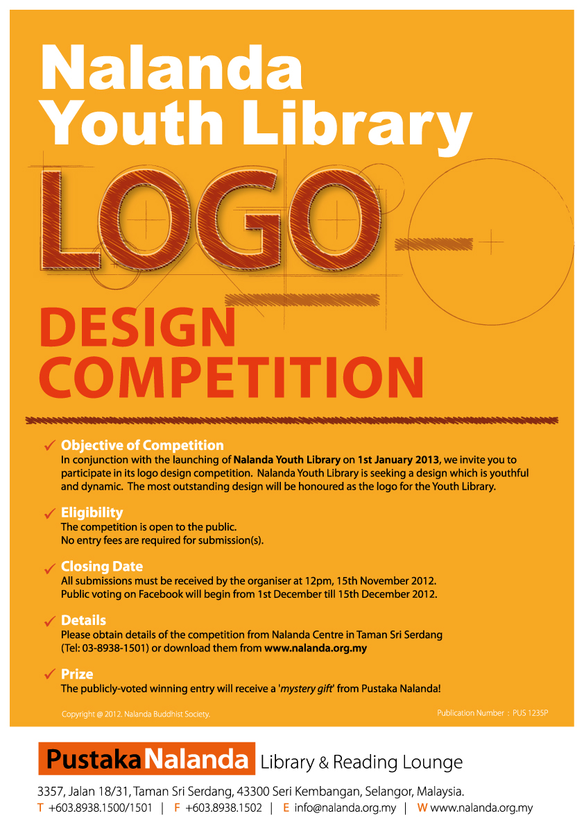 Nalanda youth library logo design competition nalanda Logo design competitions