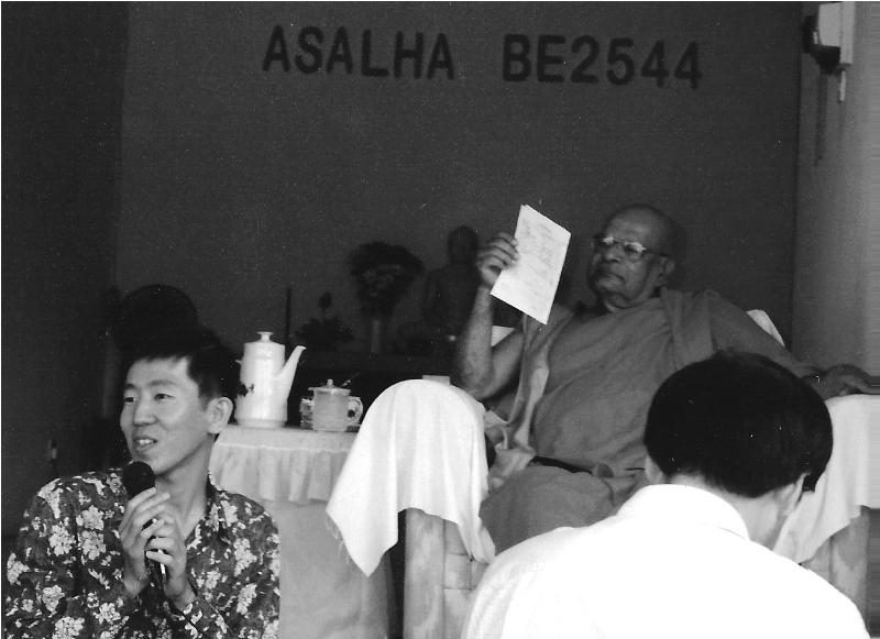 Ven. K Sri Dhammananda Nayaka Thero in July 2000.