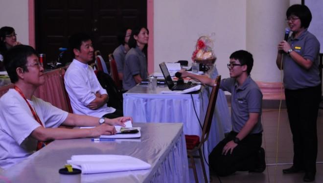 "Director of Nalanda Dhamma School, Sis. Sunandā Ong spoke on ""Nalanda Education""."