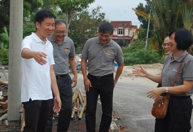 Bro. Tan and branch members visiting NEO Centre Sungai Petani.