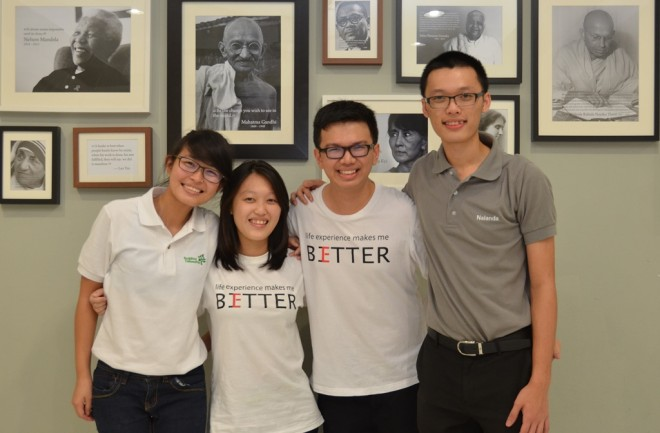 Nalanda youths bond with their BF Singapore counterpart at the Youth Centre.