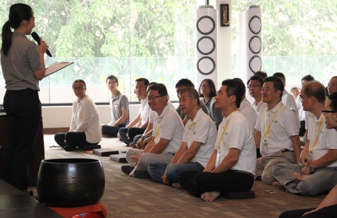 Members of the Buddhist Fellowship Singapore join Nalandians in the Sunday Service.