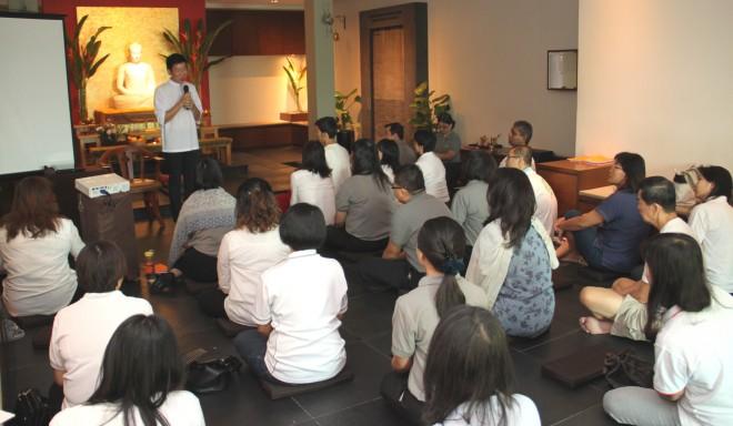 Bro. Tan imparts words of encouragement to Nalandians.