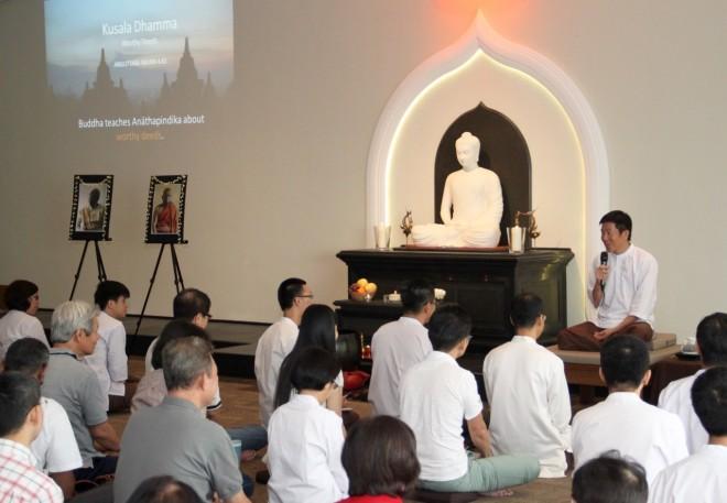 Bro. Tan spoke on 'Kusala Dhamma' – Worthy Deeds.