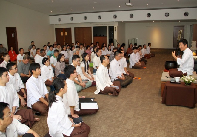 Bro. Tan reminded Nalandians about the Path of Practice.