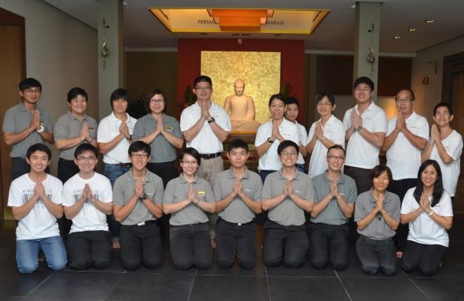 Appamādaviharī Meditation Centre Committee Members from Penang and Nalandians.
