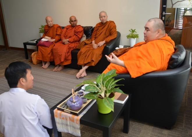 Ven. Dhammadinna at Nalanda Centre in October 2015.