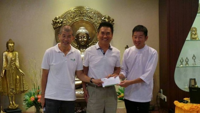 Donation by BF members to Wisdom Park.