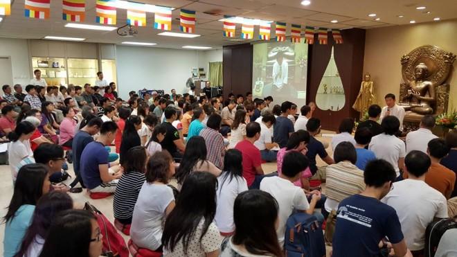 Dhamma talk in Singapore.