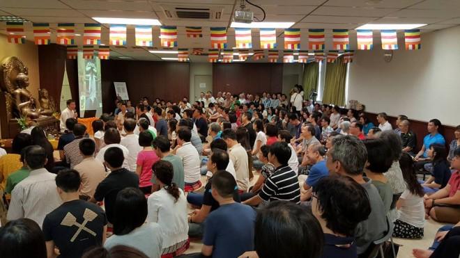 Dhamma talk at Buddhist Fellowship, Singapore.