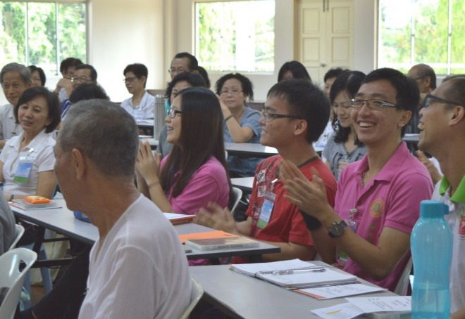 The Dhamma sessions were dynamic with plenty of interaction between participants.