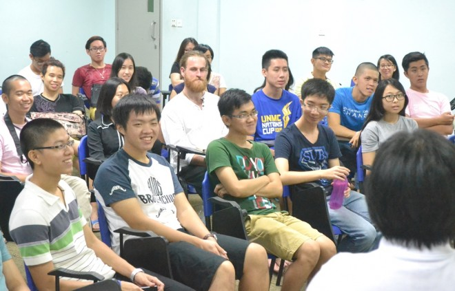 The undergraduates found the workshop enjoyable and enlightening.