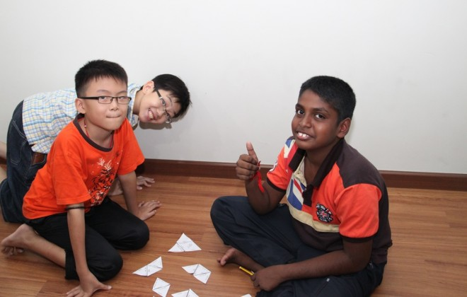 Students enjoying their group activities together.