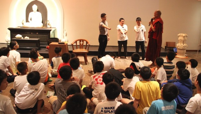 There was plenty of interaction between the venerable and participants.