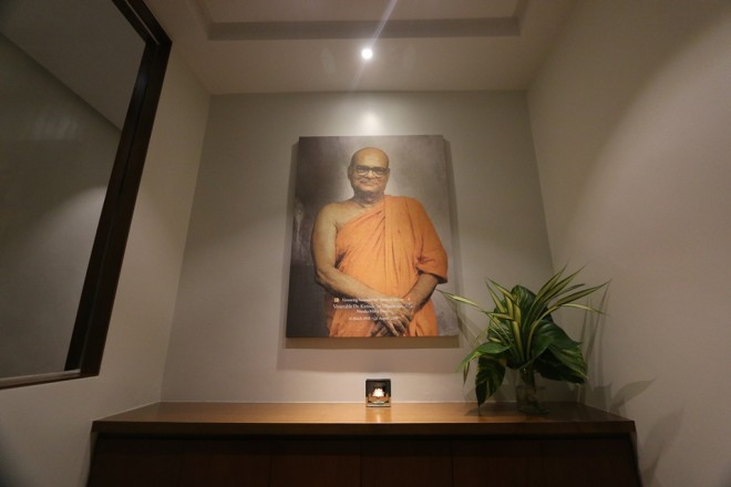 Shrine dedicated to the late Ven. K. Sri Dhammananda.