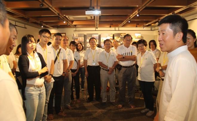 Buddhist Fellowship EXCO Members visiting Nalanda Centre last October.