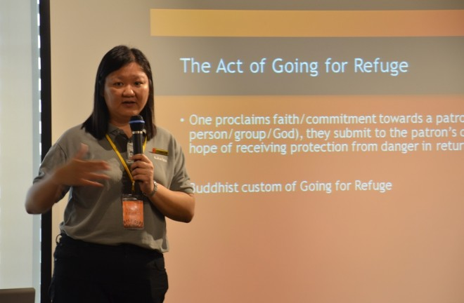 Sis. Buddhini explained that the practice of 'going for refuge'existed even before the Buddha's time.