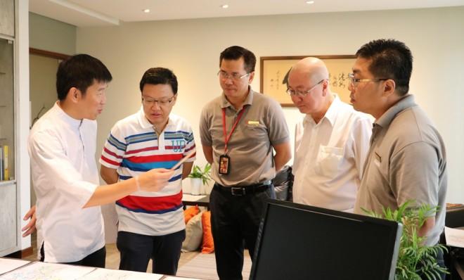 Bro. Tan meeting members of one of the Sub-Committees.