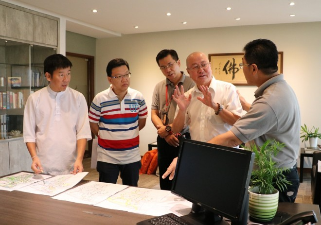 Sub-Committee discussions on the construction of Wisdom Park, Phase 1.