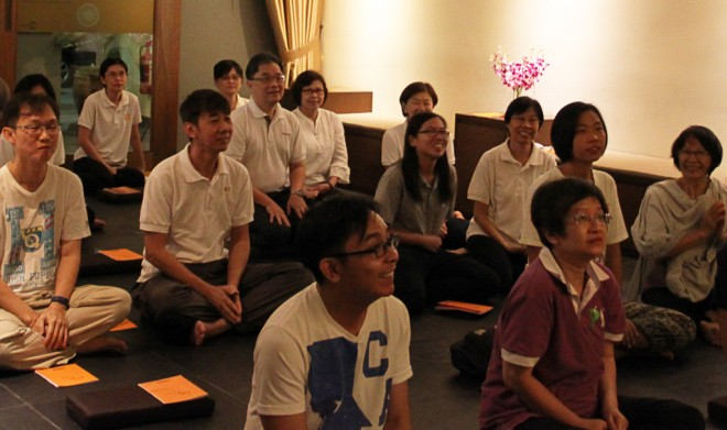Devotees listening to Bro. Tan's advice attentively.