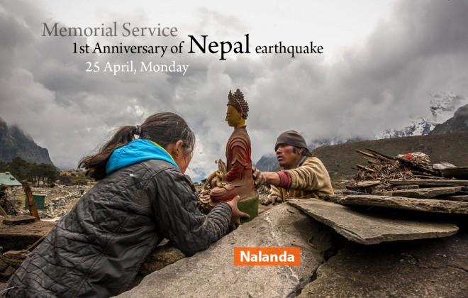 Nepali Earthquake Memorial Service at Nalanda Centre.