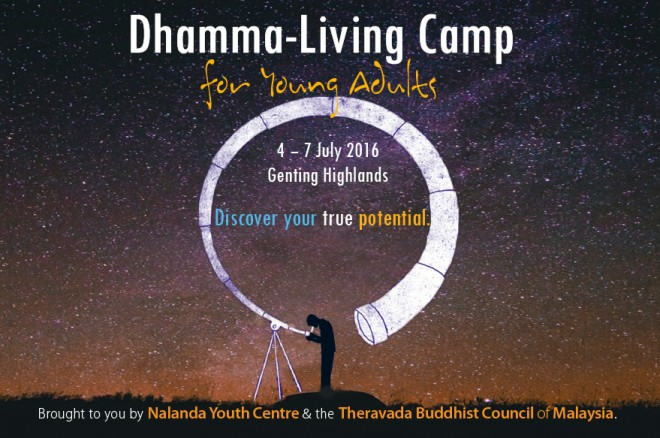 Dhamma-Living Camp for young adults - July 2016.
