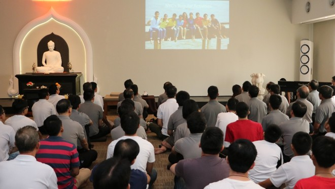 The congregation watched a video presentation on Youth Centre activities.