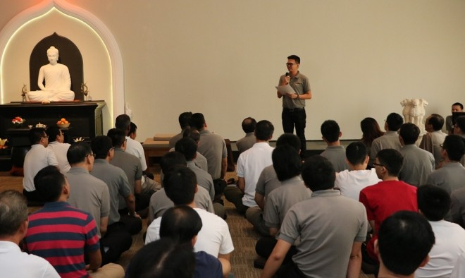 Bro. Jie Sheng shared a touching experience.