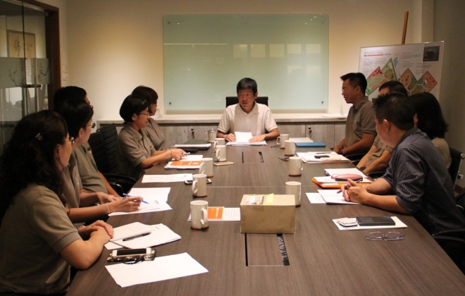 Meeting with Nalanda's Board of Management.