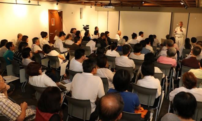 Dr. Basanta Bidari's lecture at Nalanda Centre on 5 May 2016.