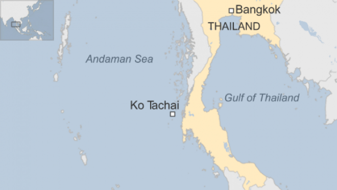 Map of Koh Tachai.