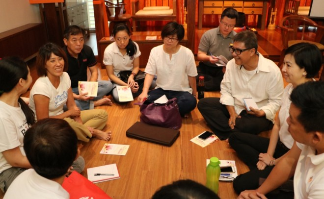 Participants discussing on what 'Buddha Day' means to them.