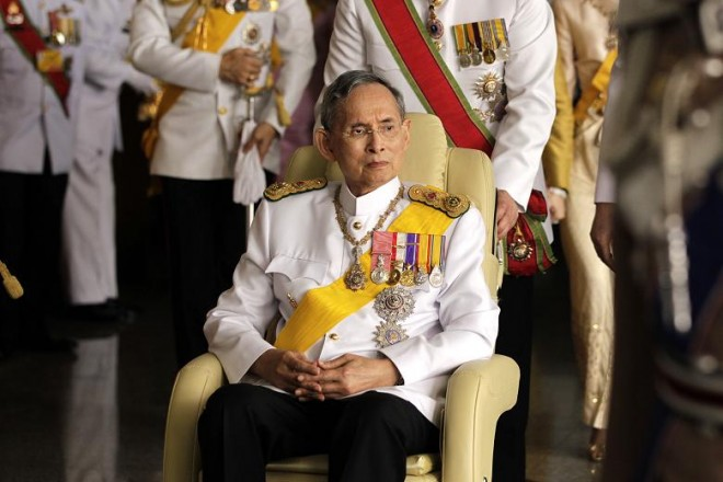 His Majesty King Bhumibol Adulyadej, Rama IX, of Thailand.