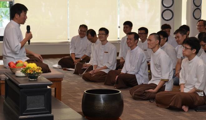 Bro. Tan urge Nalandians to develop the qualities of 'Metta', 'Karuna', 'Mudita' and 'Upekkha'.