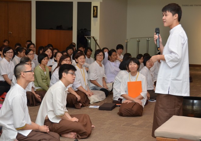 Bro. Jun Yin sharing his memorable experience as a volunteer.