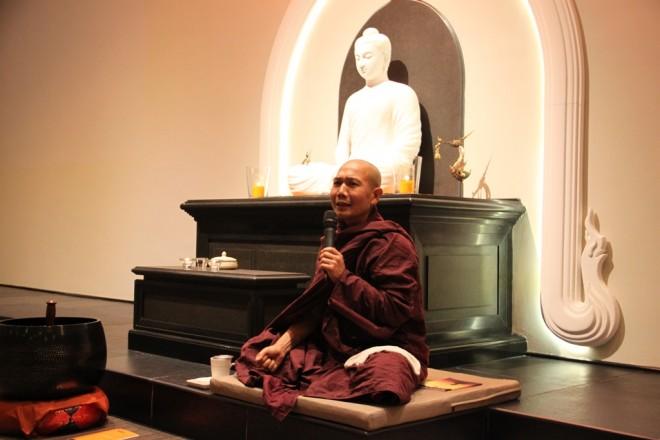 Ven. Vijaya urged devotees to strengthen their 'Viriya' and keep their 'Sīla' strong.