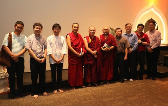 Bro. Tan together with Geshe-la, Vajrayana monks and Buddhist society leaders.