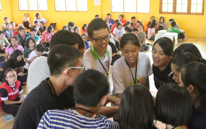 Participants got to know each other better during sports and games.