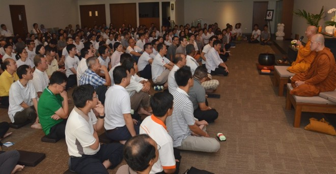 The talk coincided with the third week of Nalanda's Gimhāna Retreat.