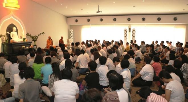 Ven. Dhammavuddho teaching on Uposatha Day.