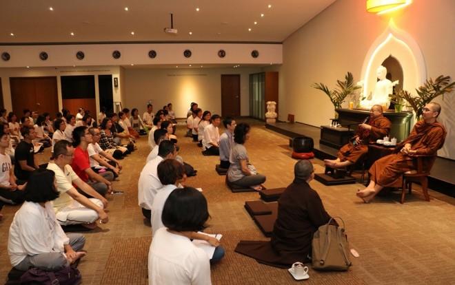 Sayadawgyi spoke about the purpose of 'Samatha bhāvanā' and 'Vipassana bhāvanā'.