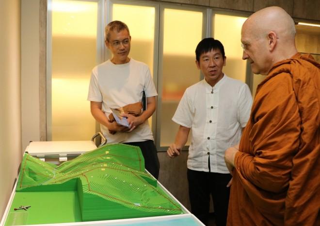 Ajahn Vajiro was happy to hear of 'Wisdom Park'.