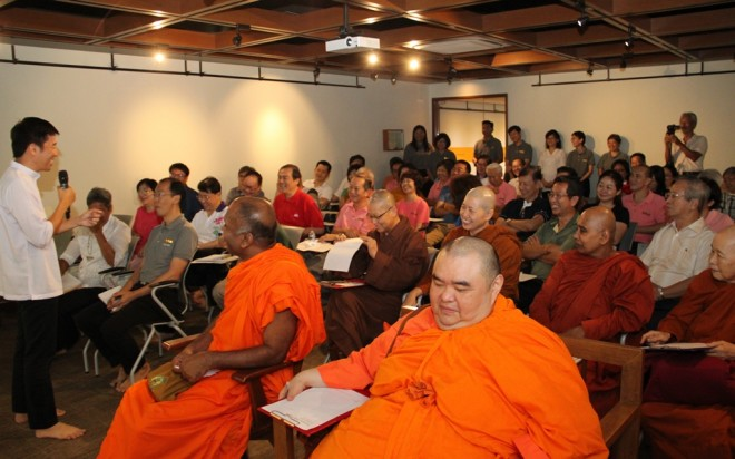 Briefing for the local Buddhist community on the concept of Wisdom Park.