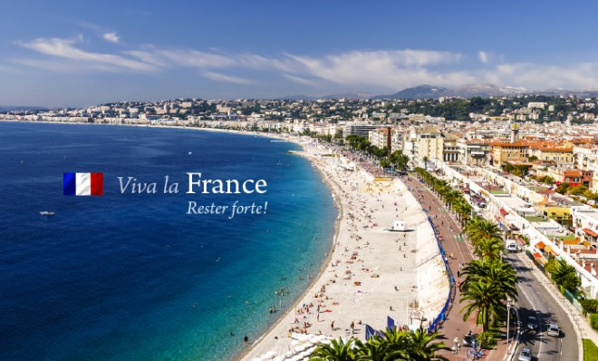 The city of Nice in Southern France.