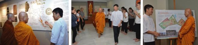Ven. Dhammavuddho touring Nalanda.
