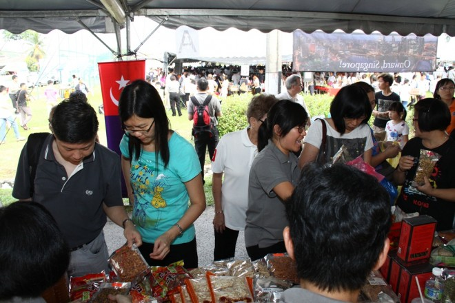 Many stalls enjoyed high traffic and brisk sales.