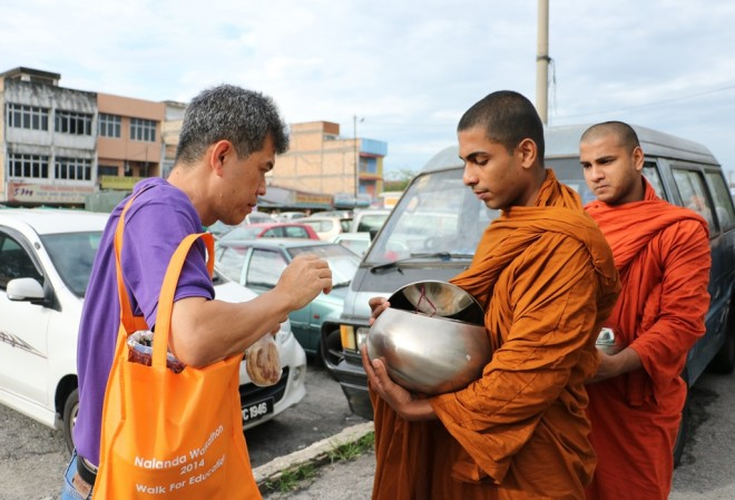 The local citizens have become more knowledgeable on the proper way to support Buddhist monastics.