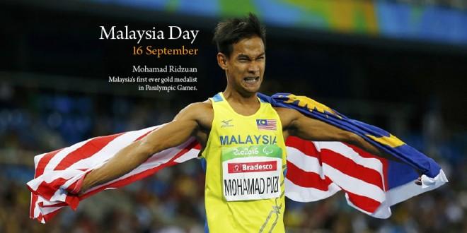 Malaysia's first Golden Paralympian - Mohamad Ridzuan.