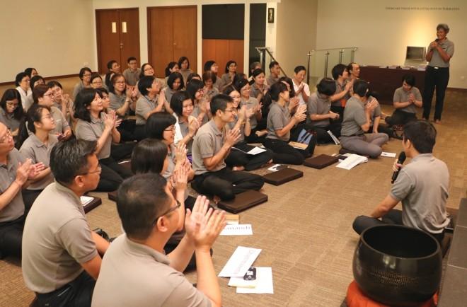 "Nalanda founder Bro. Tan asked members to start their joyful bonding and learning as ""family groups""."