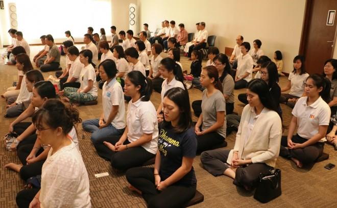 Meditation session every Sunday at Nalanda Centre.
